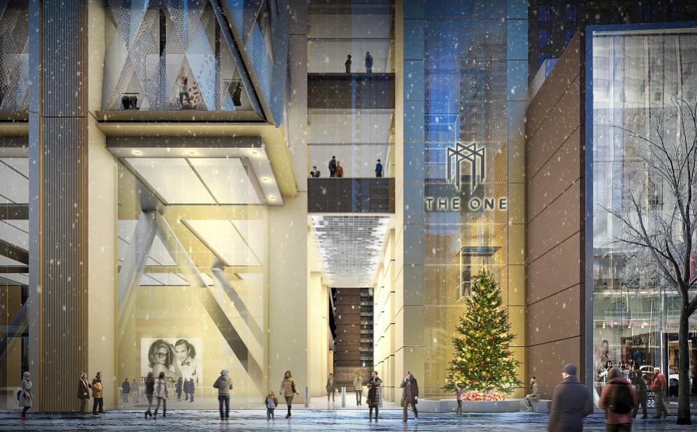 The One Yorkville luxury condo building exterior