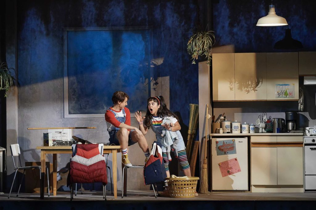 Emily Fons as Hansel and Simone Osborne as Gretel in the Canadian Opera Company's new production of Hansel & Gretel, photo Michael Cooper