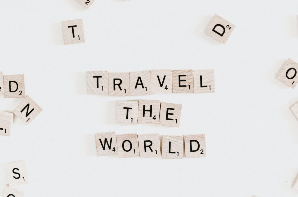 Virtual Travel scrabble board