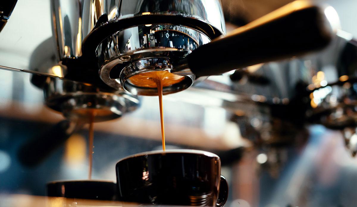 Espresso Coffee machines making coffee
