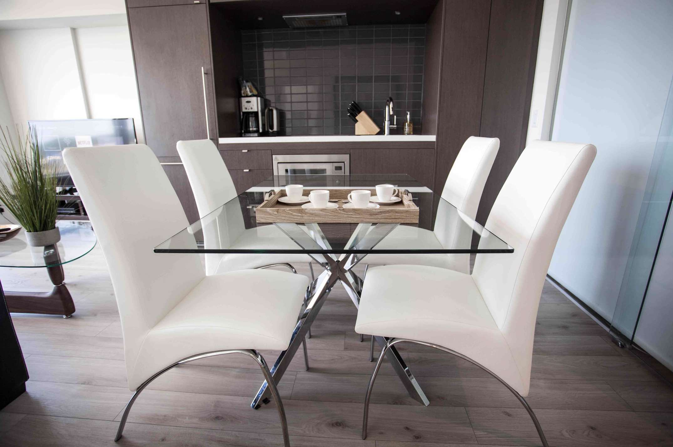 Bellamond Yorkville living room chair and table luxury Yorkville hotels