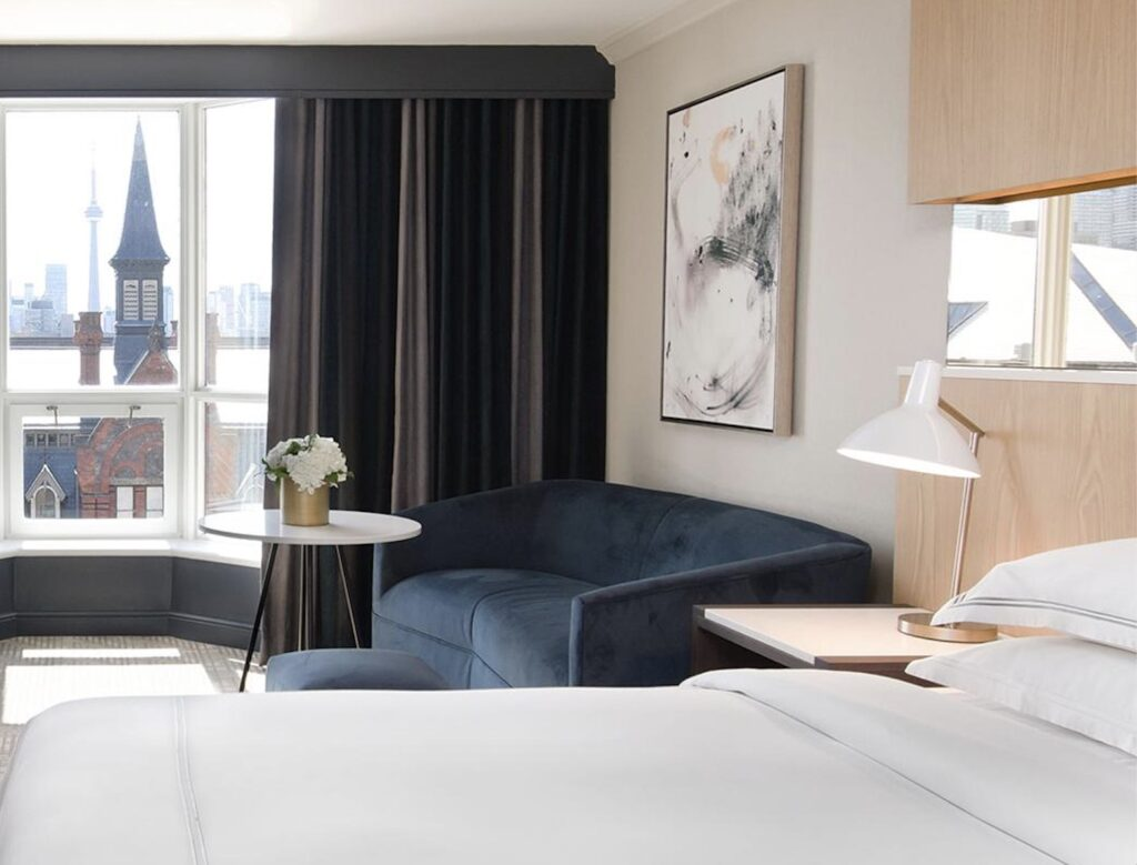 Yorkville Royal Sonesta Hotel room with view from luxury Yorkville hotels